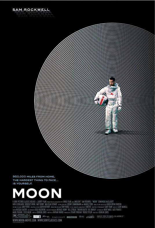science-fiction moon poster