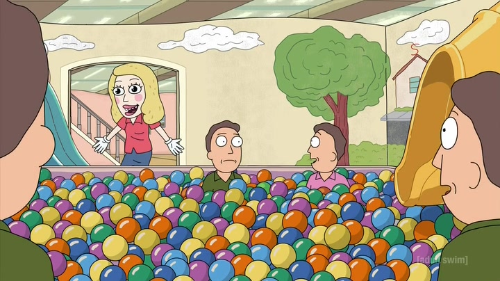 rick and morty ball pit