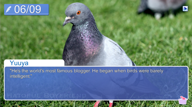 hatoful boyfriend brian the pigeon