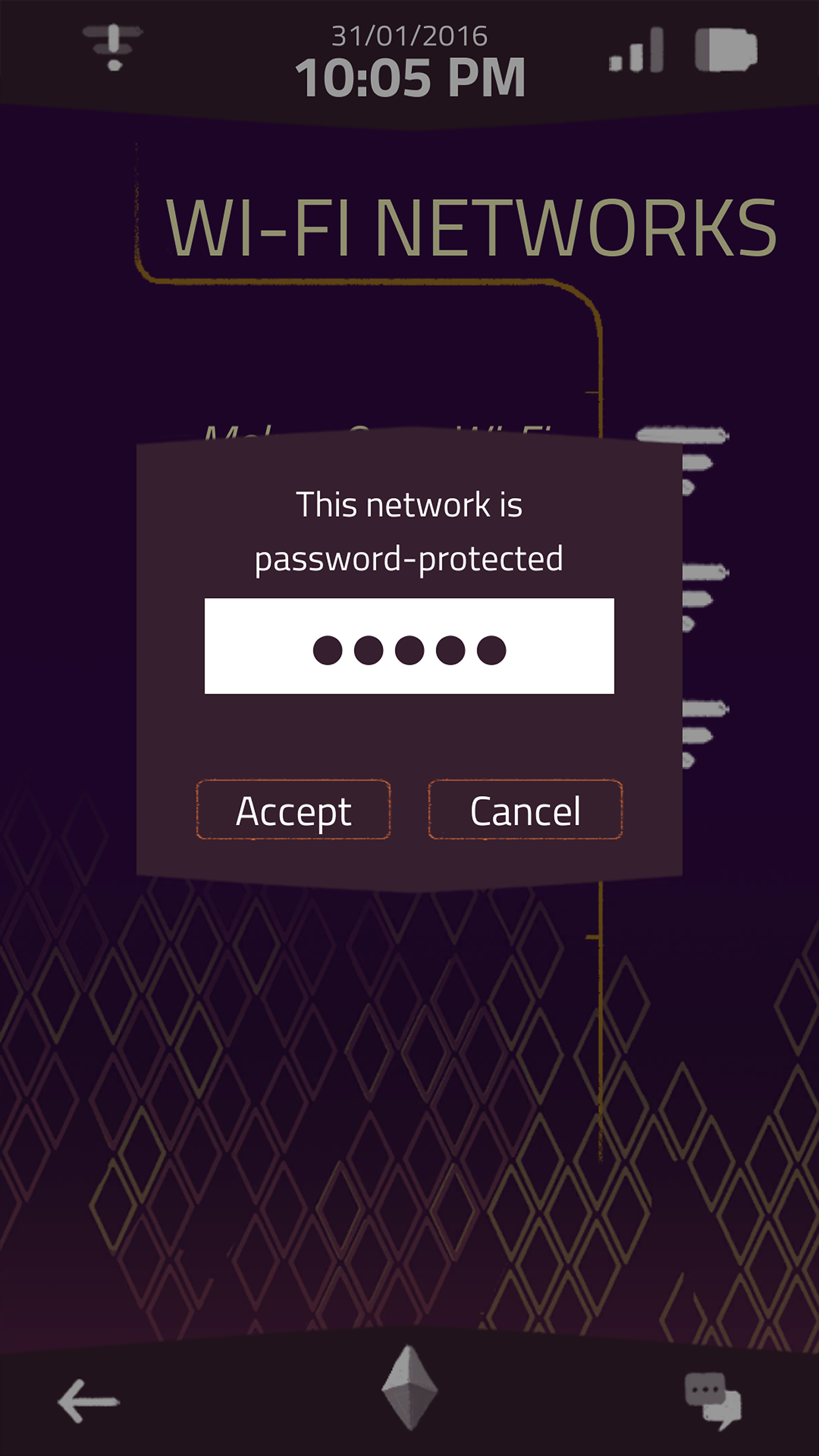 a normal lost phone wifi