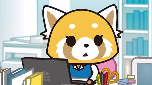 Aggretsuko office