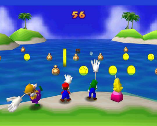 Mario Party fishing