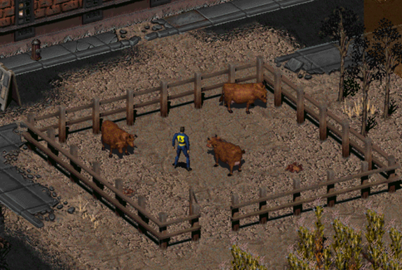 Fallout 2 cows